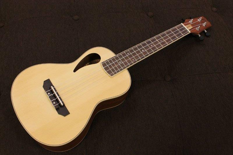 【澄風樂器】PEAVEY Composer Ukulele 23吋 烏克麗麗 獨特雙音孔設計 雲杉木面板 附袋