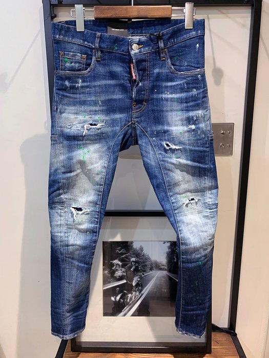 現貨【DSQUARED 2】2019春夏 綠漆自然水洗TIDY BIKER牛仔褲 *30%OFF*