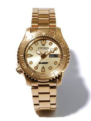 【S.I. 日本代購】XLARGE x CITIZEN DIVER DESIGN 機械錶,兩件省更多,免運