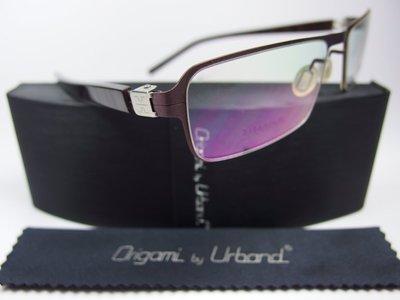 【信義計劃】全新真品 Urband 手工眼鏡 鈦金屬半框 專利彈簧膠腳 超越 Infinity Lindberg