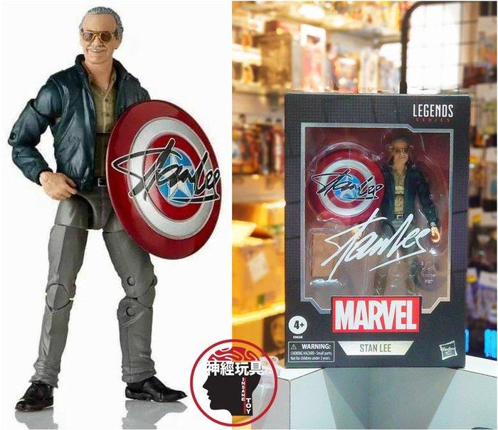 【神經玩具】現貨 Marvel Legends 漫威傳奇 Stan Lee + 美國隊長盾牌 6吋 孩之寶 史丹李