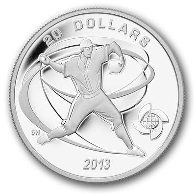 加拿大 紀念幣 2013 棒球紀念銀幣系列-投手(Pitcher) 原廠原盒