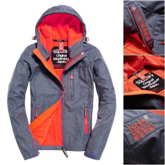 特價 正品嚴選 現貨 極度乾燥 Superdry Windtrekker 軟殼衣 運動風 刷毛保暖 外套 風衣 風暴灰