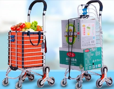 A+出口日本歐美頂級折疊兩用鋁合金購物買菜爬樓車