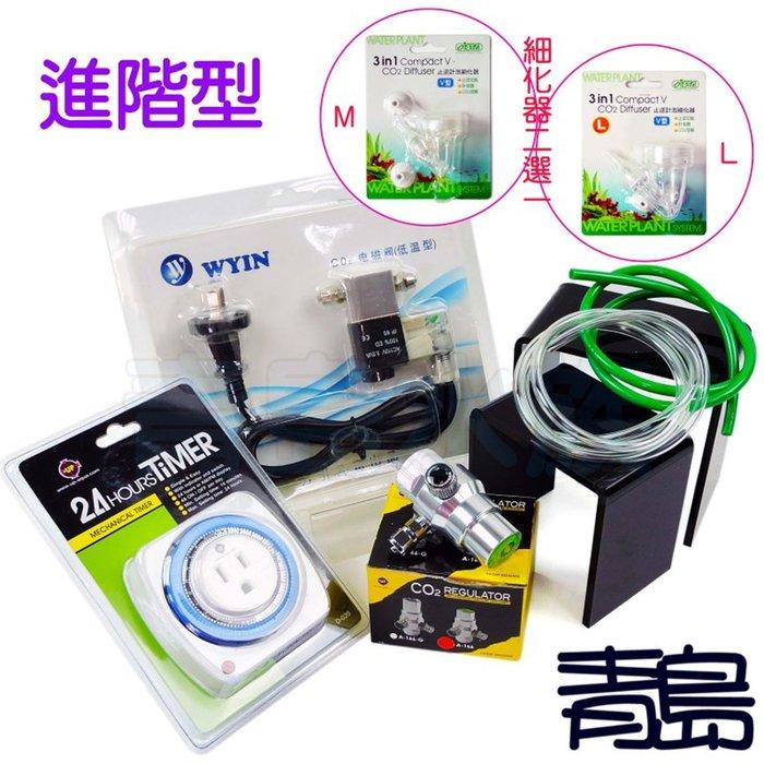 。。。青島水族。。。KING霸王套餐-CO2完美超值組(電磁閥+減壓閥+耐高壓風管+PVC管+定時器+細化器)==進階款