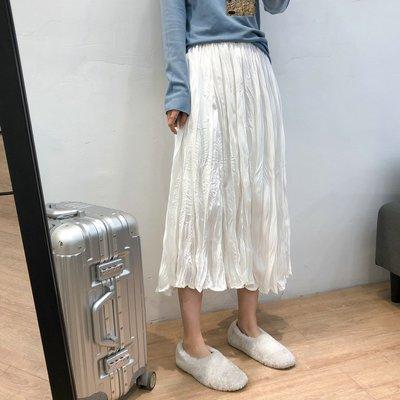 【UBY】仙女褶皺裙!不規則壓皺長裙◄No03222