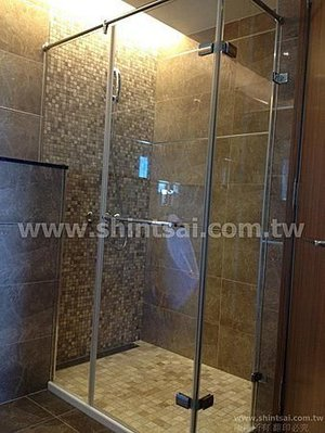 shintsai玻璃工程 責任施工 淋浴間乾濕分離 玻璃拉門 一字型 L型 強化膠合 瓷白玻璃隔間..等