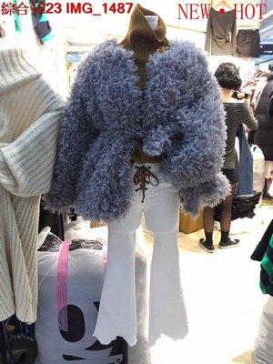 ♥出清 可純超取♥ 可愛毛絨絨外套附綁帶(灰色現貨一) 正韓