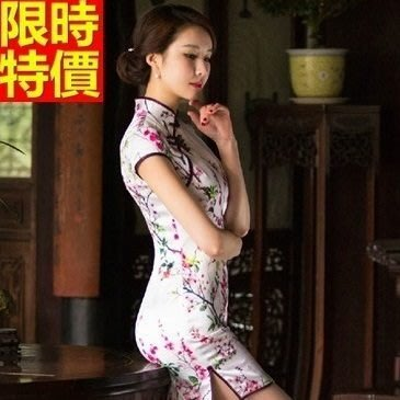 旗袍 真絲短禮服-唐裝 性感修身改良式中國風連身裙68p10[獨家進口][巴黎精品]