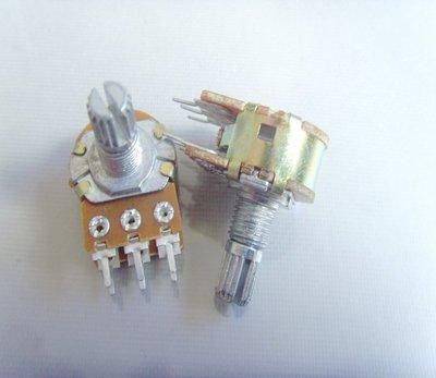 雙聯電位器(短柄)B50K 6腳 柄長15MM{42}[55843-013]