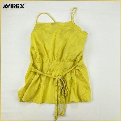 日本二手衣✈️AVIREX 美國品牌 近新品 細肩帶 小可愛 罩衫 背心外套 AVIREX 日本女裝 M号 A087A
