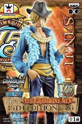 日本正版海賊王航海王THE GRANDLINE MEN 15TH EDITION vol.6 香吉士DXF公仔 日本代購