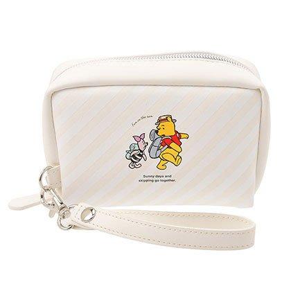 *B Little World * [現貨] 東京迪士尼專賣店限定/小熊維尼與小豬仿皮化妝包/pooh/東京連線