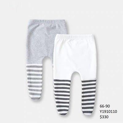 【Baby】 JC BABY 可愛條紋拼接嬰兒褲襪(共兩色) #Y1910110