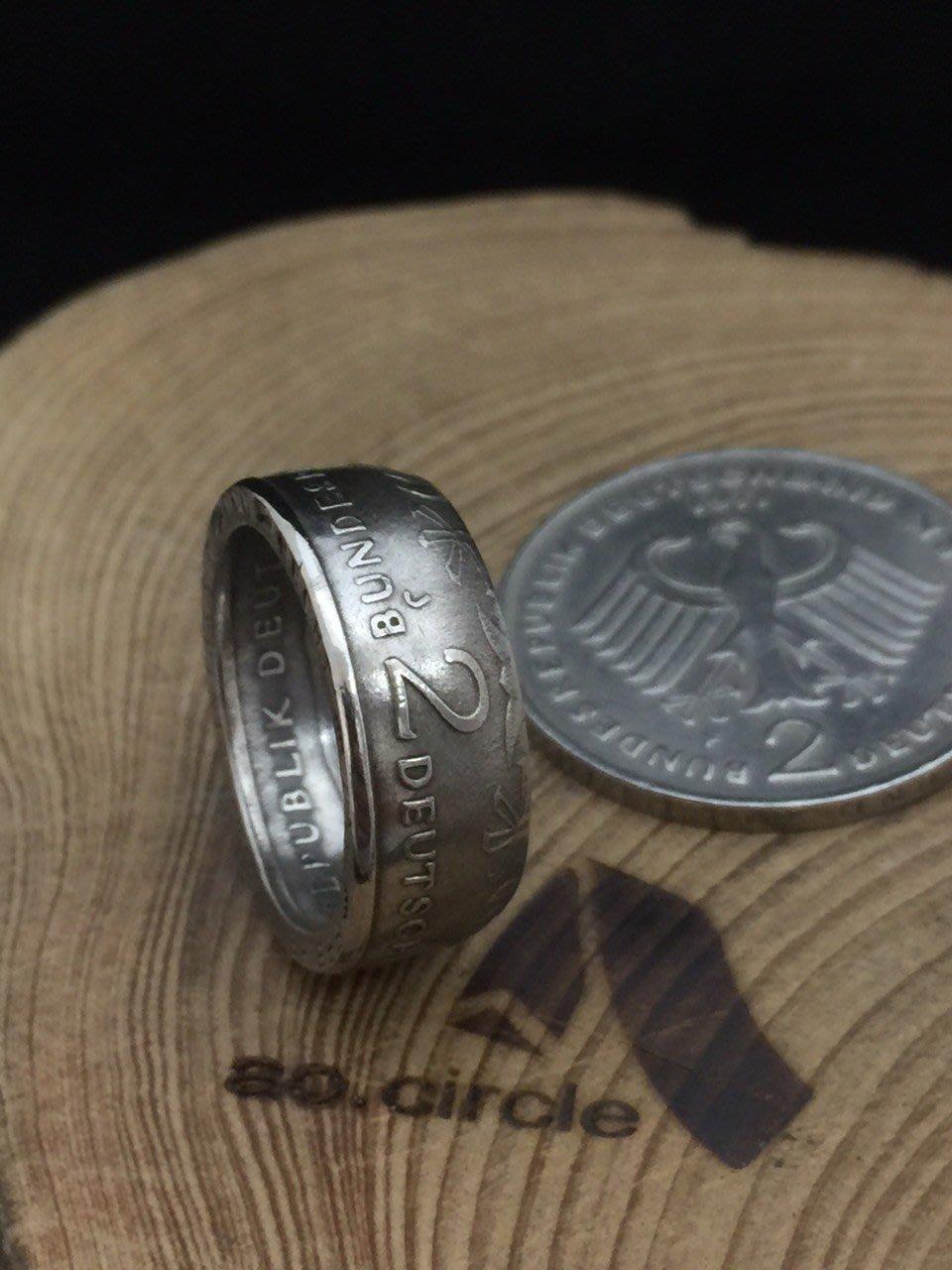 奢扣 GERMANY MARK 德國2 馬克 手工 錢幣 硬幣 戒指 手工戒指 慕尼黑 賓士 Bmw 黑手黨