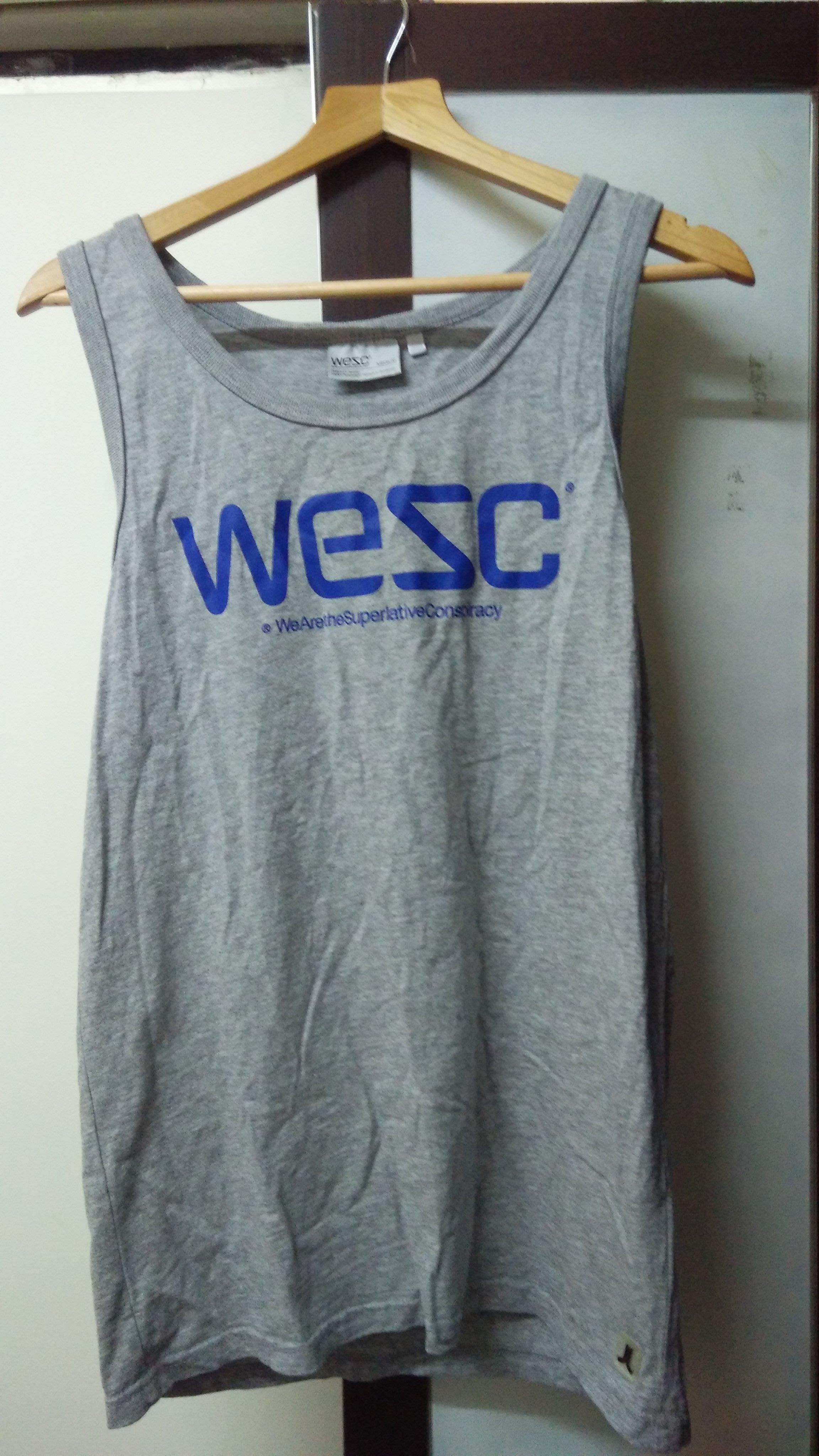 ASOS英國直送現貨 WESC 經典特殊Logo皮標背心 M號