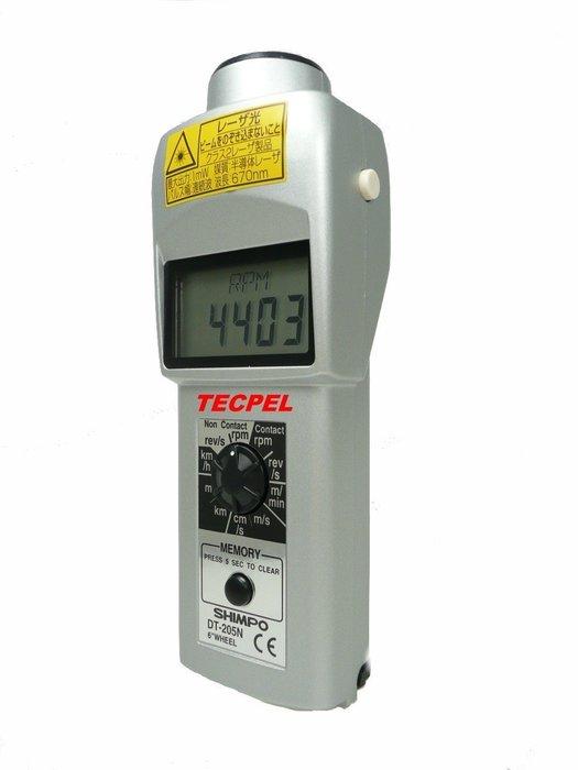 TECPEL 泰菱 》DT-205NRC 日本 SHIMPO 數位轉速計 迴轉速度計 轉速計 光電/接觸兩用