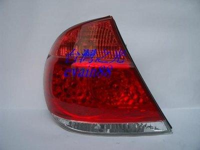 《※台灣之光※》全新TOYOTA豐田CAMRY冠美麗04 05年原廠型紅白晶鑽LED尾燈外側 台灣貨