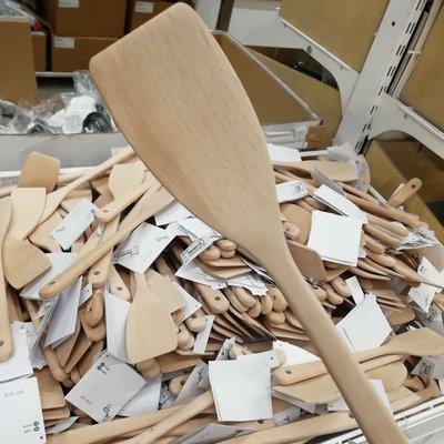 IKEA宜家烏弗瑪鍋鏟廚房烹飪用具帶涂層不粘鍋炒菜鏟裝飯實木鏟