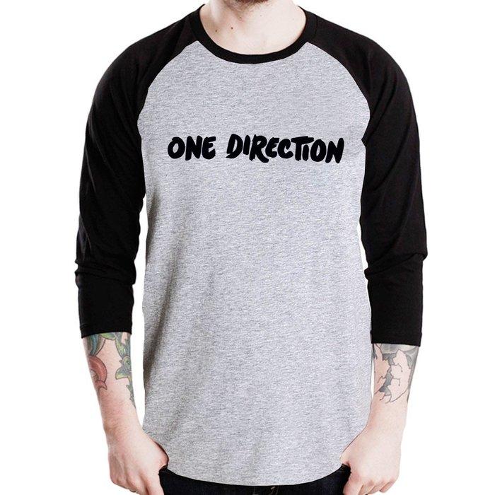 ONE DIRECTION~Logo七分袖T恤~2色 1D 一世代樂團金屬龐克音樂 街頭滑