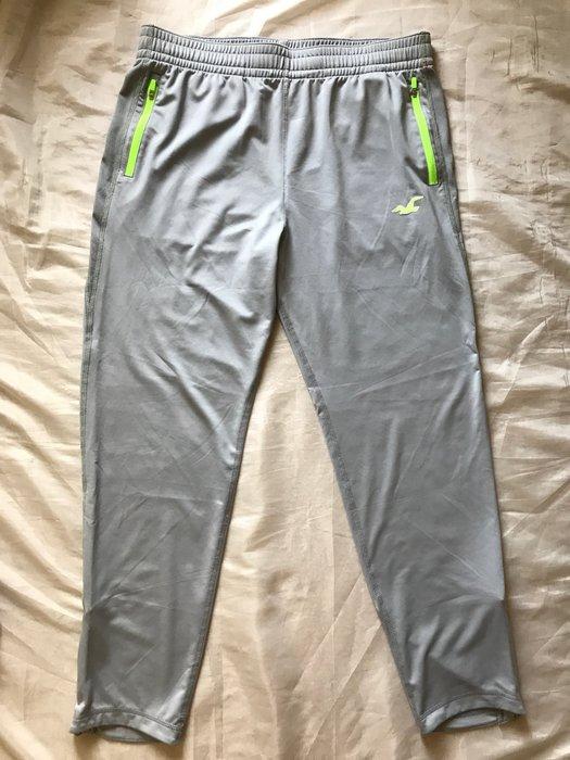 【天普小棧】HOLLISTER HCO Active Sweatpants運動長褲休閒長褲褲腳拉鍊灰色L號A&F副牌