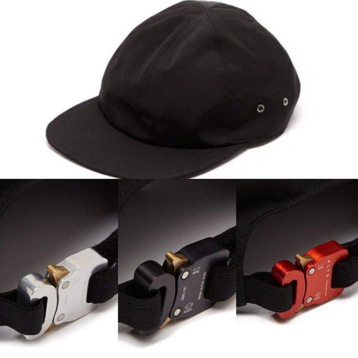 「蔣柒」現貨!1017 ALYX 9SM buckle baseball cap 經典鐵扣棒球帽 銀/黑/紅 老帽