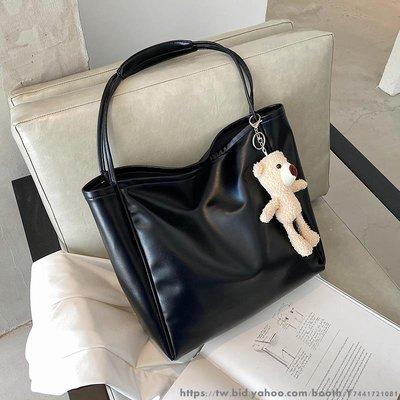 簡約女款大包包女新款潮時尚百搭子母單肩包大容量托特包 日韓文藝包包 學院風可愛手提袋 生活購物袋多款多色可選