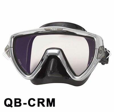 台灣潛水---TUSA M-19SQB 抗UV鏡片鍍鉻框架 單面鏡送護髮帶+除霧劑