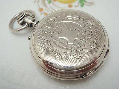 【timekeeper】 1900年瑞士製Depose純銀精雕三門懷錶(免運)