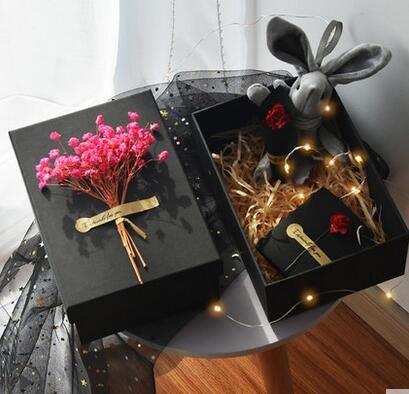 小花花精貨店-七夕禮品盒子精美韓版簡約創意大號生日口紅禮盒包裝盒空盒禮物盒#禮盒