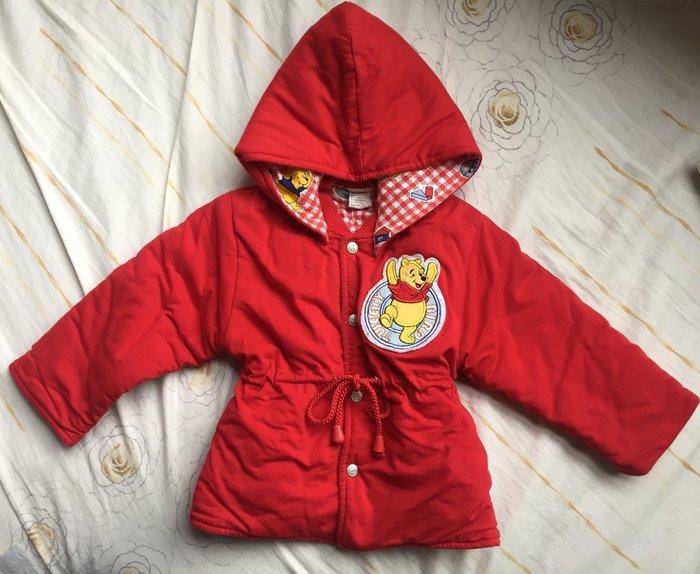 優惠免運~Disney Pooh微笑維尼 冬季雙面厚棉外套 可拆帽 童裝
