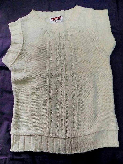 EDWIN米白棉針織上衣 厚款