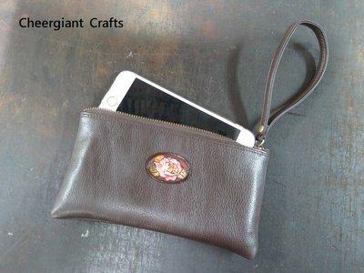 IphoneX手機皮包訂製Iphone X mobile phone leather purse 玫瑰花手機皮包錢包訂製