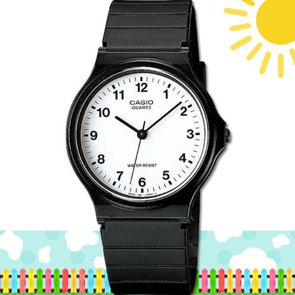 【促銷款】CASIO 時計屋 卡西歐手錶 MQ-24-7B 學生錶 中性錶 指針錶 膠質錶帶(另有MW-59)