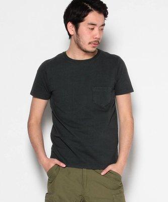 日本 REMI RELIEF Pocket T-shirt 黑色 手染口袋短T 全新品