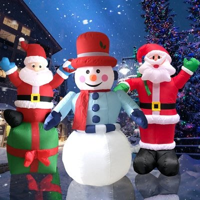充氣氣模拱門聖誕裝飾品聖誕老人超大擺件平安夜禮包商場活動道具 年終大促 YTL