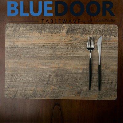 BlueD_ 仿木紋 PVC 長方形 耐熱 餐墊 桌墊 餐桌墊 日式 實木質感 隔熱桌布 現代設計 廚房 網美風 IG款