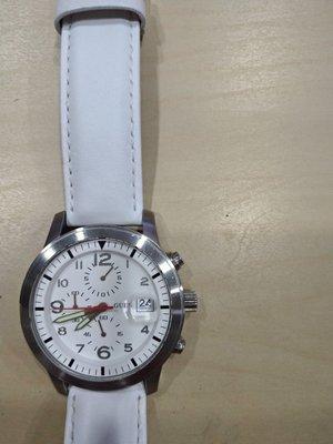 自售guess42mm白色錶錶帶已更新