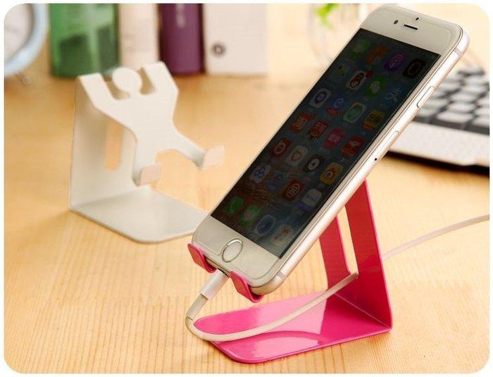 【人形手機座】懶人桌面手機架 ipad平板支架 金屬小人支撐架 不影響充電☆意樂舖☆