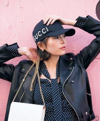 【WEEKEND】 GUCCI Loved 刺繡 休閒 棒球帽 鴨舌帽 帽子 黑色 478948