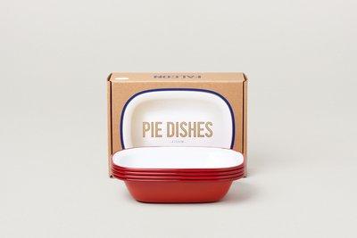 Falcon 琺瑯 派盤 四件組 Pie Dishes 鮮果紅 英國獵鷹琺瑯 delicateworld