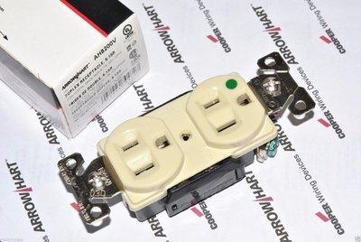 美國 COOPER AH8200V 15A 125V NEMA 5-15 DUPLEX型 乳白/象牙色 醫療級鍍鉻插座