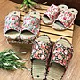 藺草草蓆拖鞋- - 日式和風花朵天然藺草舒適室...