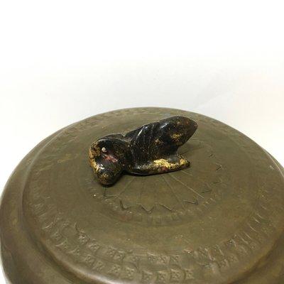 緬甸木雕老件 貼金漆器 蟬珠(完整品項較稀少)
