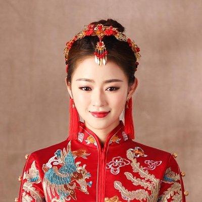 婚紗名店指定款秀禾服新娘造型古裝頭飾配飾中式禮服髮飾龍鳳褂飾品秀和服鳳冠女