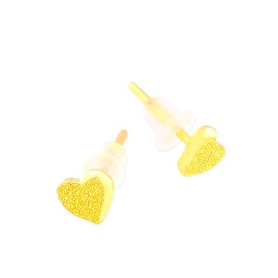 【JHT 金宏總珠寶/GIA鑽石】0.25錢 愛心黃金耳環 (請詳閱商品描述)