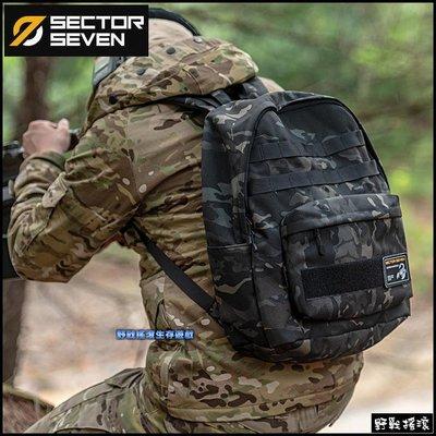 【野戰搖滾】SECTOR SEVEN 毒蠍戰術雙肩背包【Multicam Black】暗夜迷彩電腦包黑色多地形迷彩背包