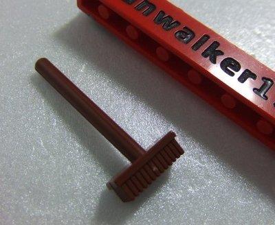 【積木1977-道具】Lego樂高-全新- 紅棕色刷子/洗地刷/洗窗刷 (Reddish Brown)(U-12)