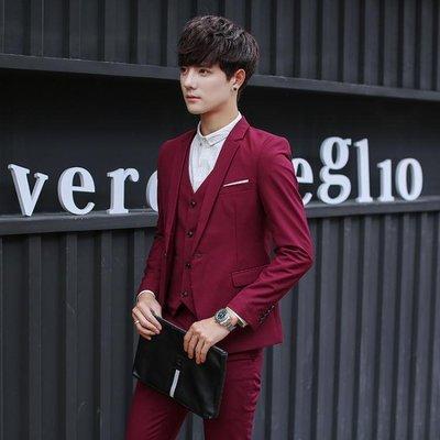 夏季西服套裝男士韓版潮流時尚西裝伴郎團禮服  ys2360