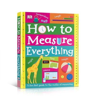 英文原版 DK如何巧量度 How to Measure Everything 趣味數學量度繪本 兒童啟蒙閱讀英語紙板翻翻